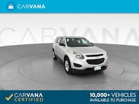 2017 Chevy Chevrolet Equinox suv LS Sport Utility 4D Silver Brentwood