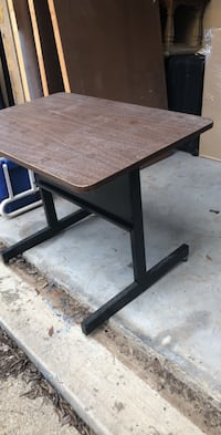 rectangular brown wooden table with black metal base Whitehouse, 75791