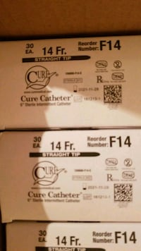 Cure Catheter  straight tip 14 fr. Dover, 19904