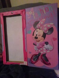 pink and white Minnie Mouse print wooden cabinet Washington, 20020