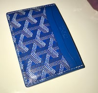blue and black leather wallet New York, 11212