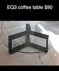 EQ3 coffee table. Tempered glass Vancouver, V5L 4T3