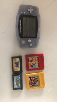 Black nintendo game boy advance with game cartridges Torrance, 90503