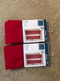 "Set of sheer 84"" red curtains Centreville, 20121"
