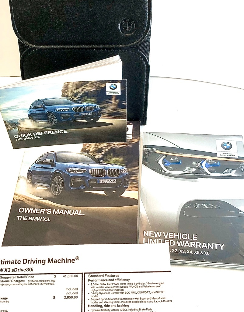 Photo 2019 BMW X3 OEM Owners Manual