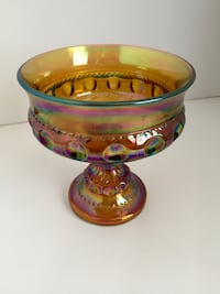 Carnival glass candy dish. Colorado Springs, 80905