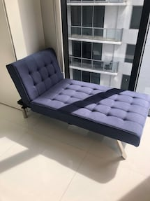Blue Convertible Chaise Lounger