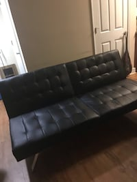 Black tufted sleeper sofa couch Arlington, 22206