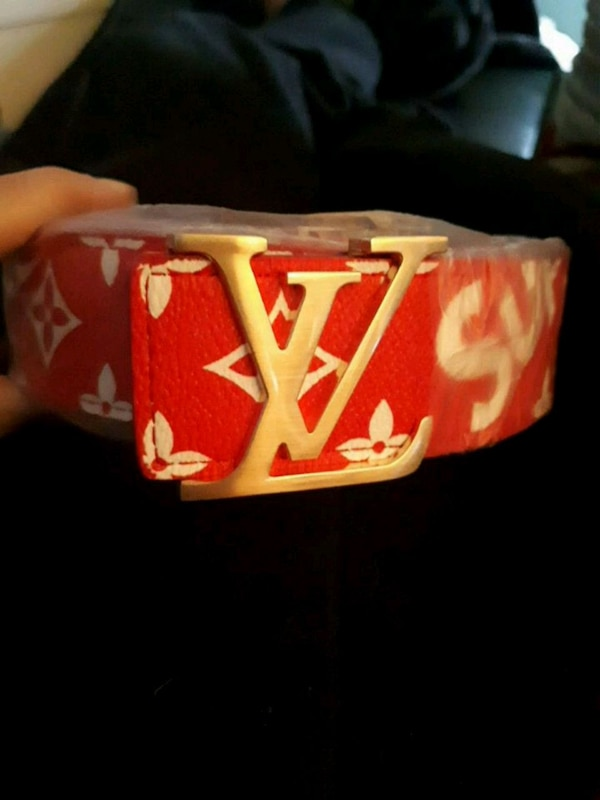 2dce62aadfaa Used Supreme Louis Vuitton collab belt for sale in Welland - letgo