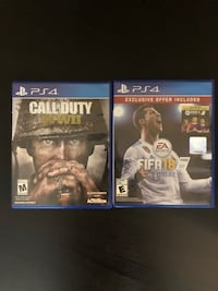 PS4 games COD and FIFA Annandale
