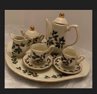 Baum Bros. Formalities Holly & Berries Mini Tea Set (10 Pieces) TOY  Parkville, 21234
