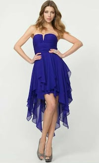 Chiffon Strapless Cocktail Dress - best for prom!