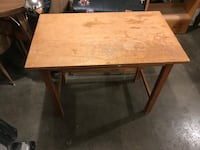 Wood table 18x24