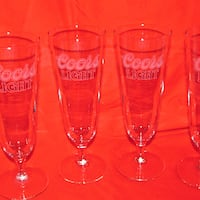 $18 Coors Light 4 Draft Beer Glasses Mississauga