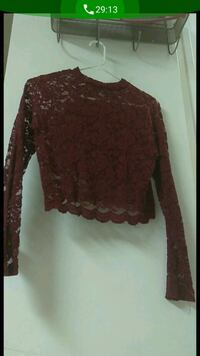 women's brown floral long-sleeved shirt South Gate, 90280