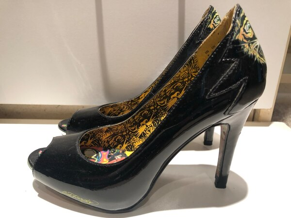 930a4083bf Used Size 5 Black Ed Hardy peeptoe pumps / heels for sale in San Diego -  letgo