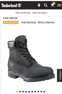 TIMBERLAND BLACK LEATHER BOOTS London, N6B