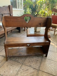 Vintage solid wood bench