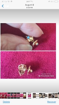 Gold Earring PURE 18 KARAT Check Pictures Toronto, M4A