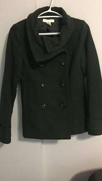 Dark green double-breasted coat Vancouver, V5X 4H6