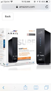 Aris surf cable motem and WiFi router Leesburg, 20176