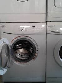 white Whirlpool front-load clothes dryer null