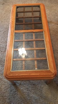 brown wooden framed glass panel Colorado Springs, 80918