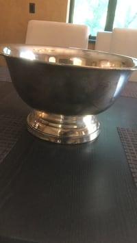 Silver plate punch bowl with Gerity ladle late 70s Reston, 20190