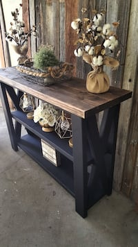 brown wooden console table