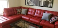 Red Leather Couch and Coffee Table Rockville, 20850