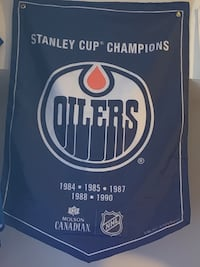 Oilers Stanley cup banner