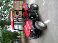 red and black ride on mower 7 km