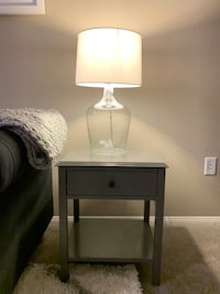 Gray end table / side table / bedside table Los Angeles