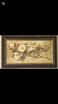 Large Painting w/ heavy wood frame Triangle, 22172