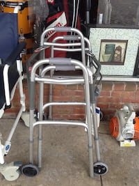 Lot of 2 medline silver walkers max. Weight capacity is 300lbs  Hagerstown, 21740