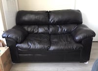 Dark Brown Leather Couch MUST GO ASAP Parker, 80138