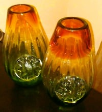 two clear glass candle holders Tucson, 85718