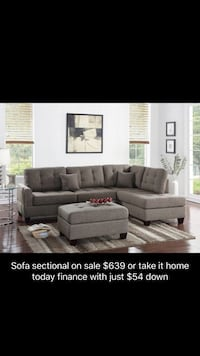 Sectional with ottoman $639 4th  Garland, 75043