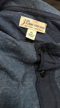 Extra large gray j crew half-button top Sherrills Ford, 28673