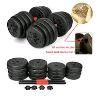 Weight Dumbbell Set, Adjustable Cap Gym Barbell Plates UNFILLED