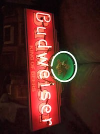 Budweiser king of beers neon light rare vintage