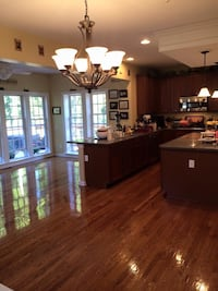 Hardwood flooring and painting construction