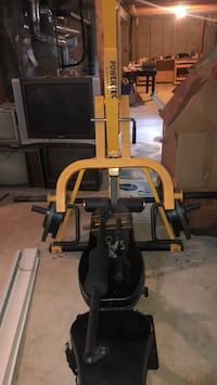 Powertec workbench and 320lbs of York free weights