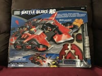 MEGA BLOKS: BATTLE BLOKS RC - REMOTE CONTROL BULLDOZER (9616) 100 PIECES Year 2001  Used once and kept in excellent condition.  Very Rare and e. Had it since 2001...17 years old and in excellent condition withCollectible Toy.  Used only onc original box a Toronto