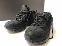 Skechers black suede sport trail 9.5 hiking shoe good work shoe Pickerington, 43147