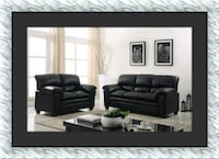 Black sectional sofa and love seat free delivery Ashburn, 20147