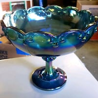 Carnival glass bowl Quincy, 02169