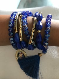 beaded blue accessory LOSANGELES
