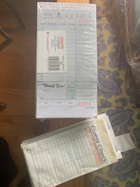 Reataurant food order pads and guest checks Silver Spring, 20903