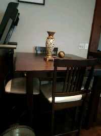 rectangular brown wooden table with six chairs dining set 3119 km
